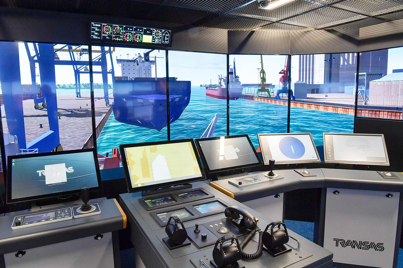 Istlab maritime simulator at SAMK Campus Rauma
